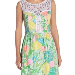 NWOT Lilly Pulitzer Raegan Dress Hibiscus Stroll